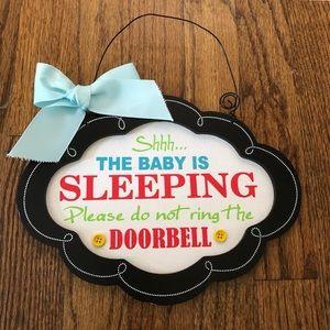 """""""Shhh...The Baby Is Sleeping"""" Door Sign"""